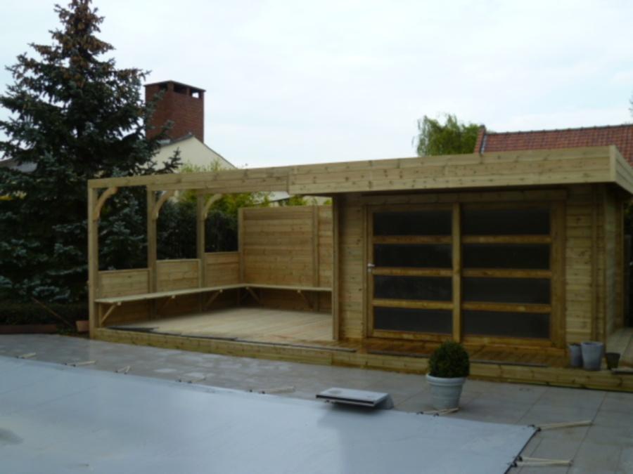 Abris de jardin contemporain meilleures images d for Abri jardin bois autoclave