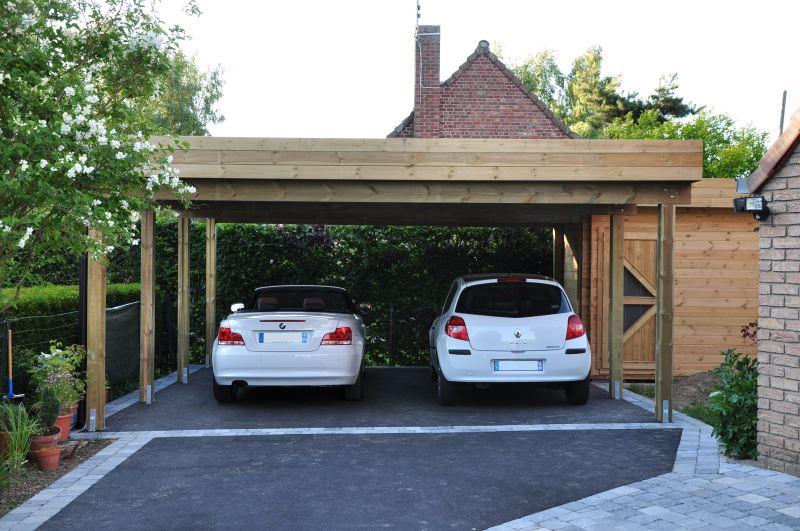 Carports 2 voitures sur mesure abri sur mesure for Construire sa voiture