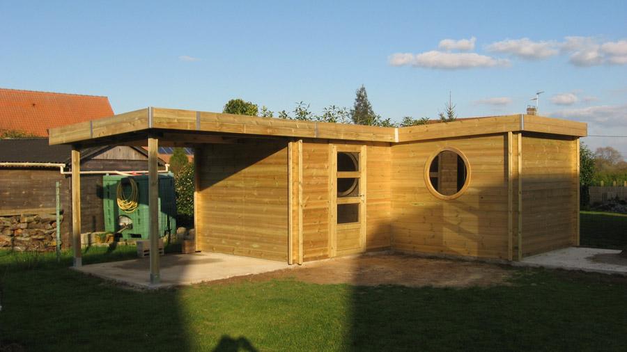 Abri De Jardin Moderne - Chalet En Bois