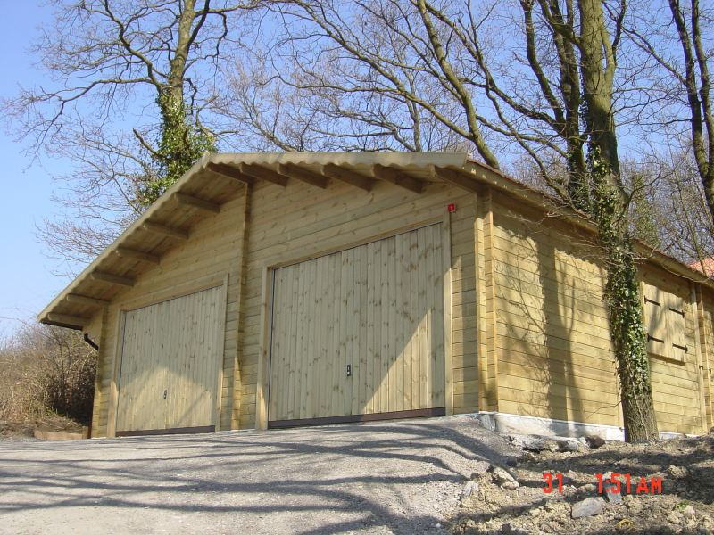 Construction garage bois sur mesure toit plat autoclave for Garage en bois autoclave