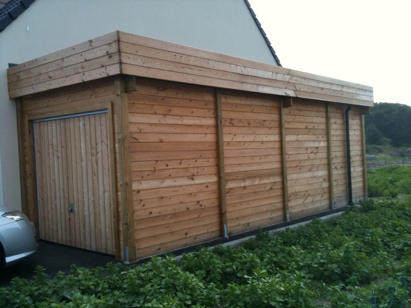 Construction garage bois sur mesure toit plat autoclave for Garage en bois en solde