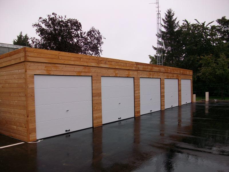 Construction garage bois sur mesure toit plat autoclave for Garage bois traite autoclave