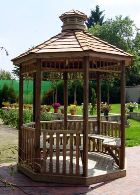 Construire kiosque bois jardin – Prix construction gloriette ...