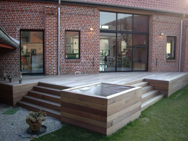 Terrasses en bois composite construction terrasse bois exotique - Photo de terrasse moderne ...