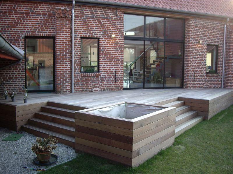 faire une terrasse en bois ~ idées de décoration et de mobilier ... - Realiser Une Terrasse En Bois Sur Pilotis