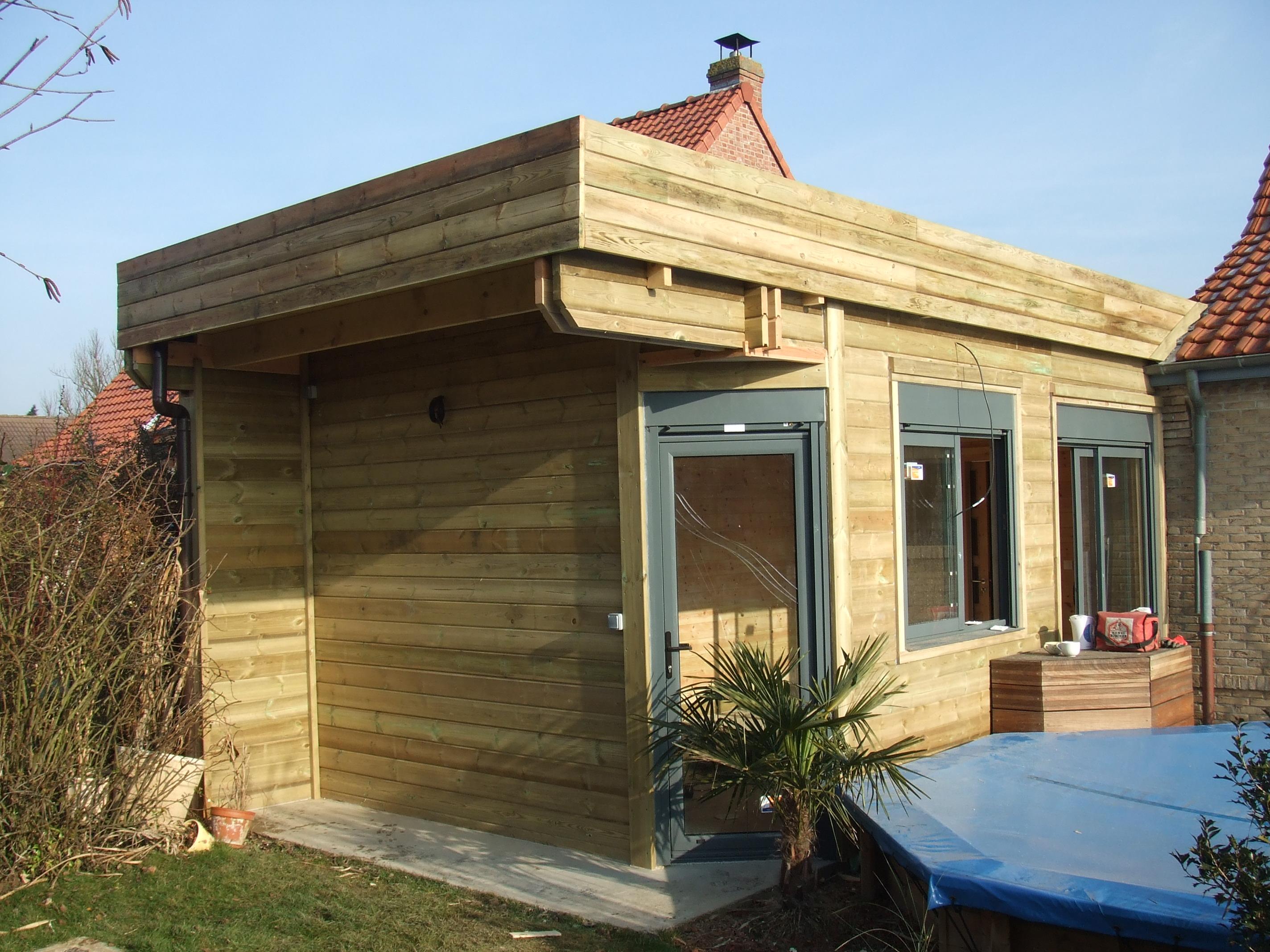 Extension de maison en ossature bois demander un devis for Extension maison devis