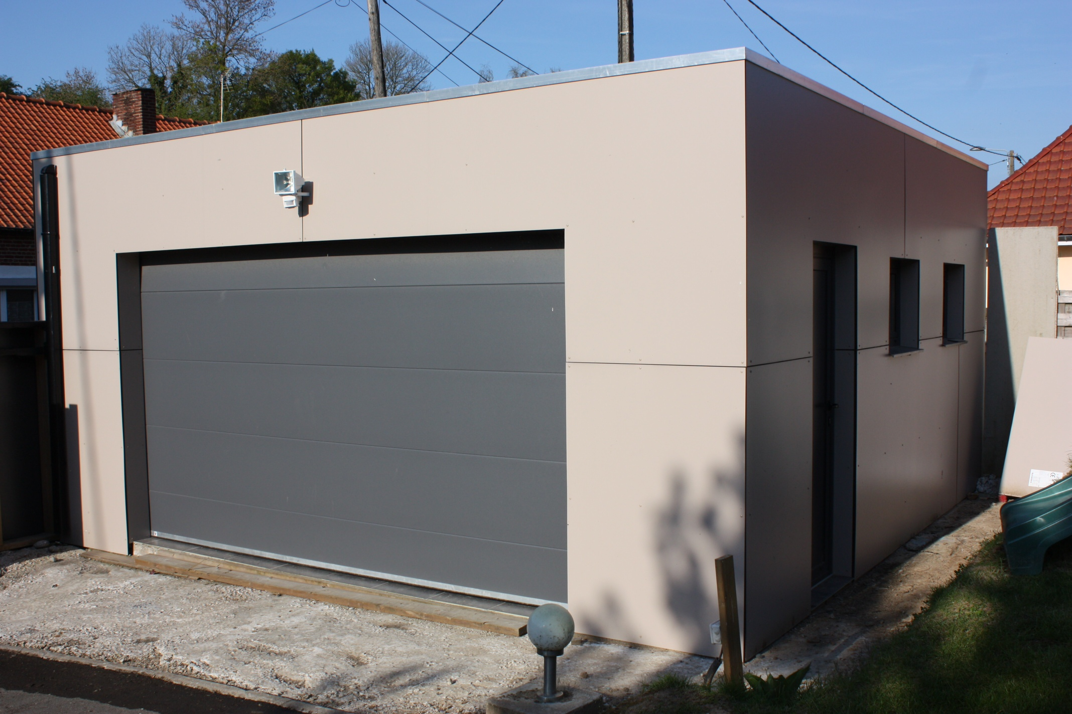 Construction garage bois sur mesure devis prix for Toit garage plat