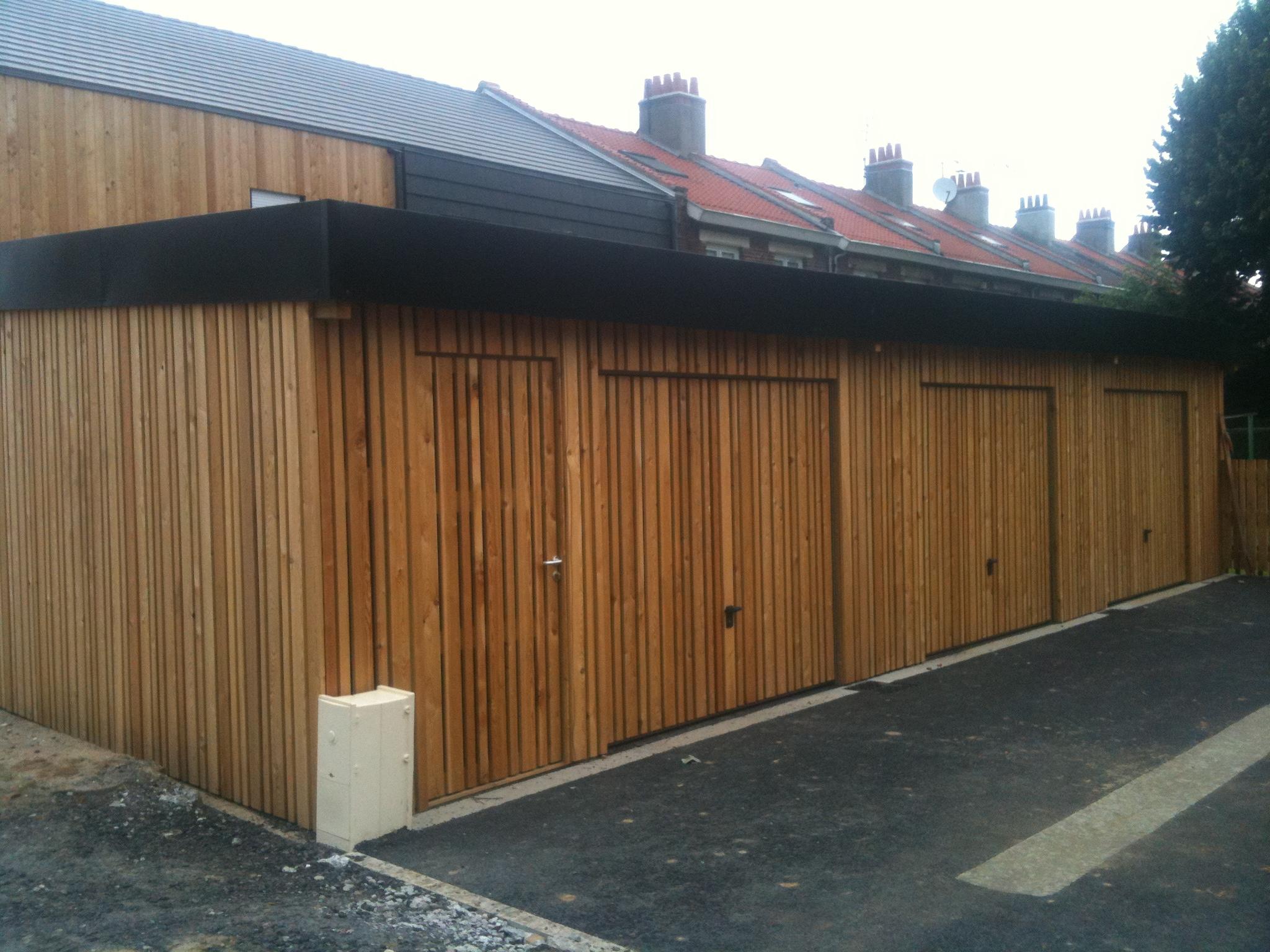 garage mélèze bois