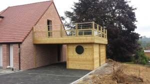 surélévation bois toit pour terrasse