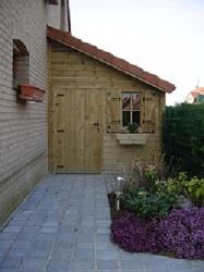 Abri de jardin en bois adossable la maison un mur for Abris de jardin 1 pente