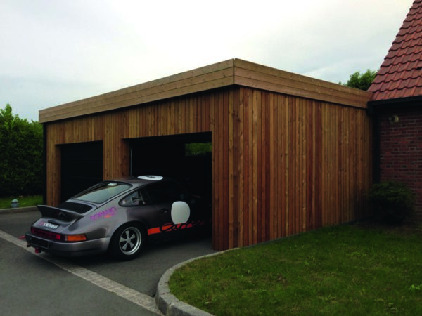 Vente abri de jardin en bois garage en bois pas cher for Construction garage prix