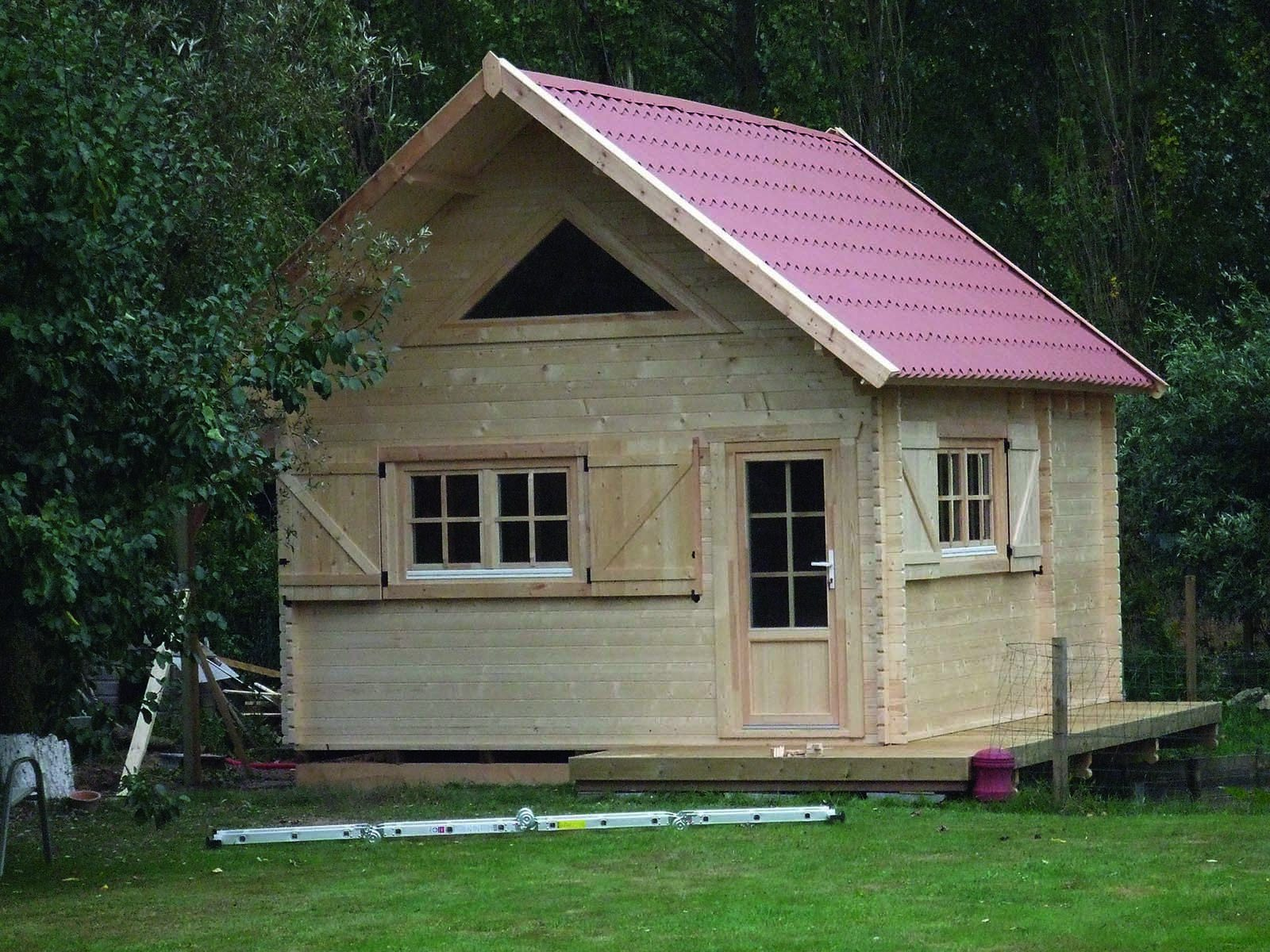 Devis chalet habitable avec mezzanine construction prix for Chalet en bois avec mezzanine