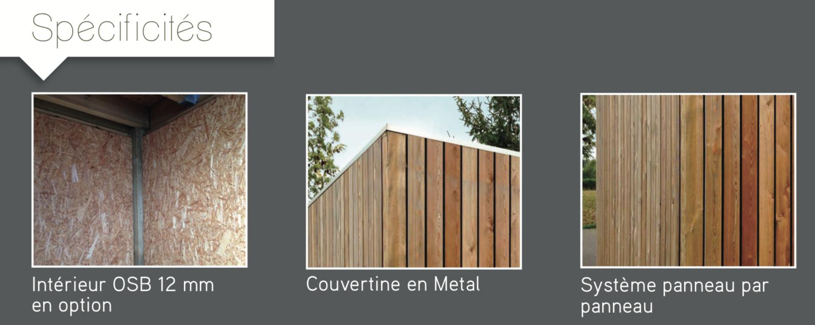 Bardage Bois Vertical Interieur abri de jardin vertical en mélèze avec toit plat pas cher
