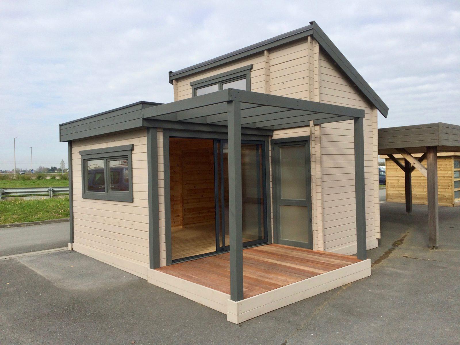 studio de jardin 20m2 avec mezzanine. Black Bedroom Furniture Sets. Home Design Ideas