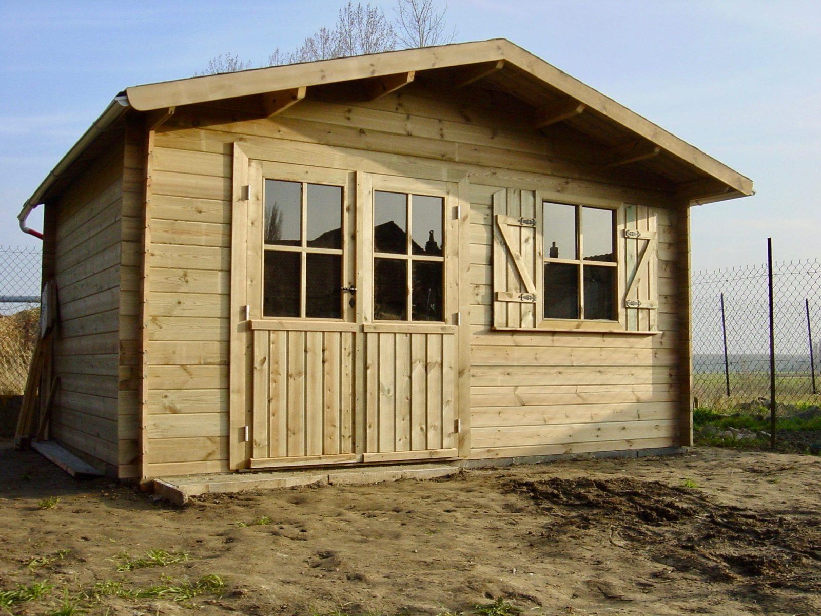 Abris de jardin Megeve 400 X 300 double porte vitrée