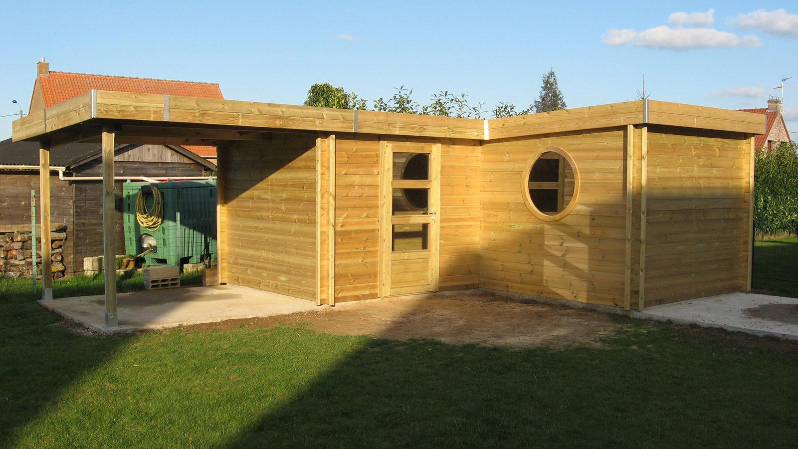 Prix abri jardin sur mesure - Vente abris Jardin toit plat pas cher