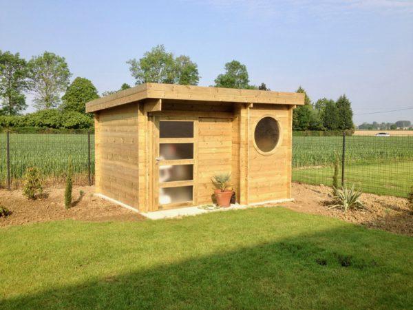 studio de jardin 20m2 en sapin rouge 2 pentes pas cher. Black Bedroom Furniture Sets. Home Design Ideas
