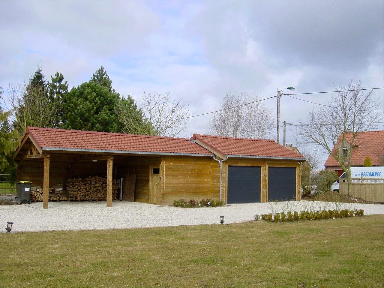 carport et garage double 600 x 1500