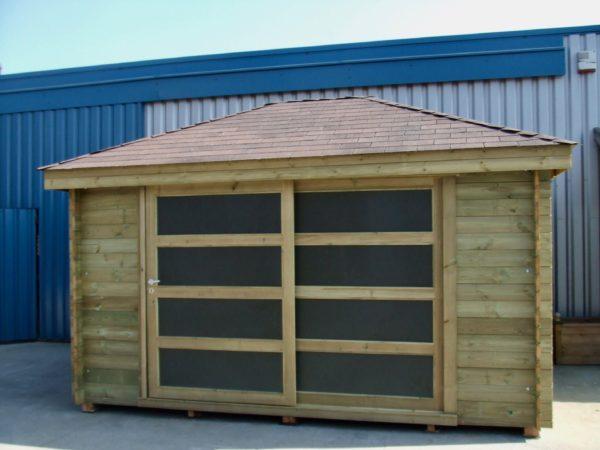 Abri jardin colis e en bois autoclave de sapin rouge epaisseur 28mm - Abri de jardin bois autoclave classe 4 ...