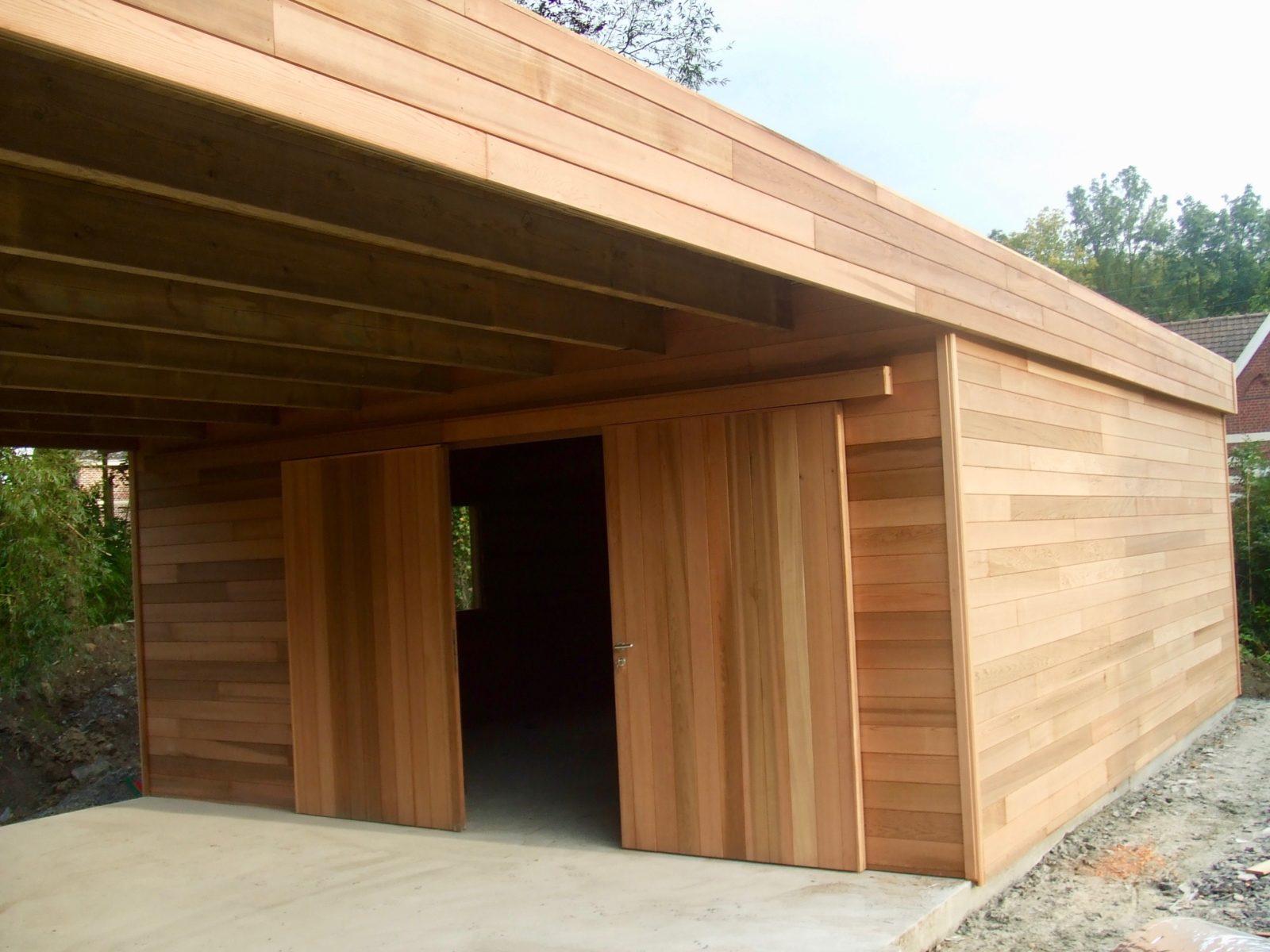 Garage cedre rouge pas cher sur mesure destombes bois - Garage ossature bois sur mesure ...