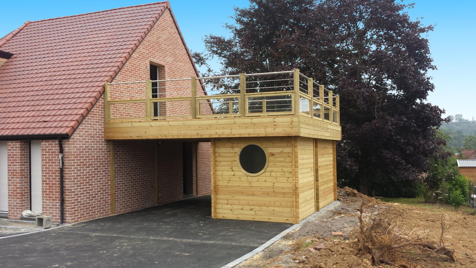 Carport + Abri avec terrasse