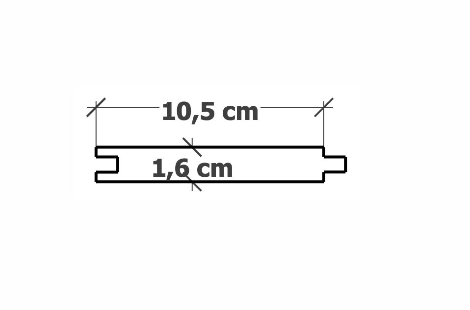 Lame de Bardage | 16x105mm Pin traitéautoclave