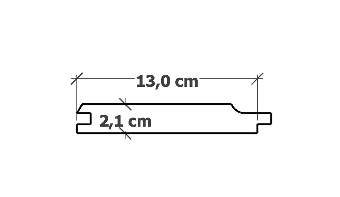 Lame de Bardage | 21x130mm Pin traitéautoclave
