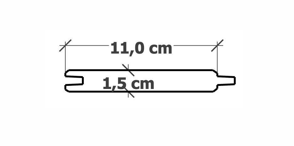 Planche Rainure-Languette | 15x110mm traité Autoclave