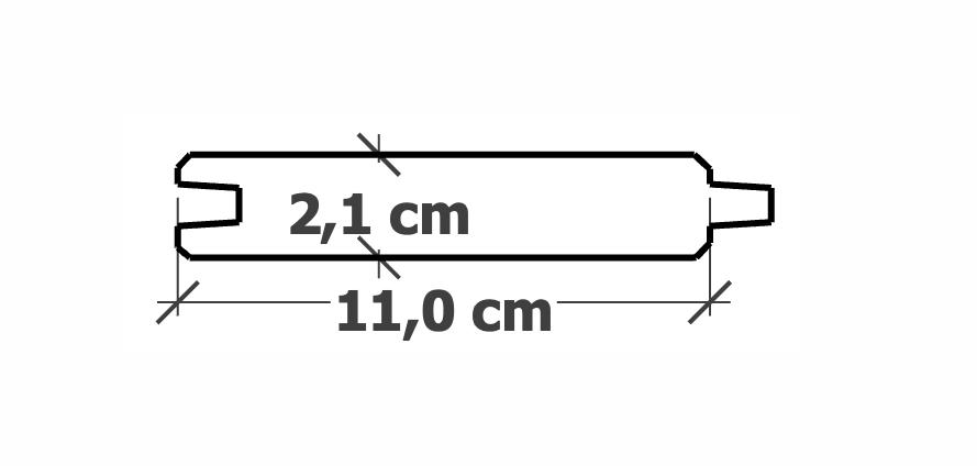 Planche Rainure-Languette | 21x110mm traité Autoclave
