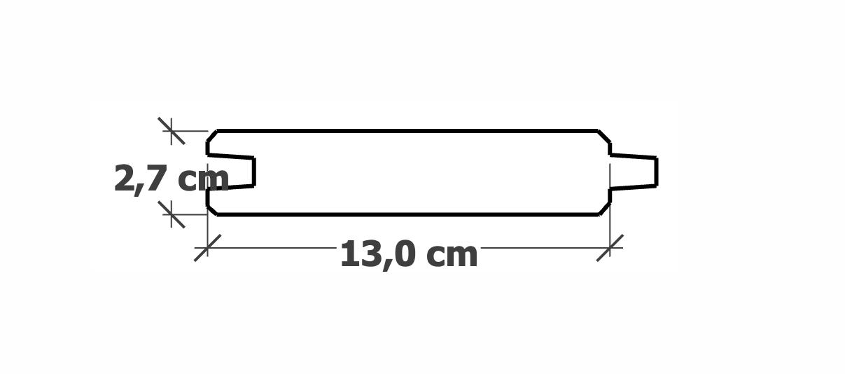 Planche Rainure-Languette | 27x130mm traité Autoclave