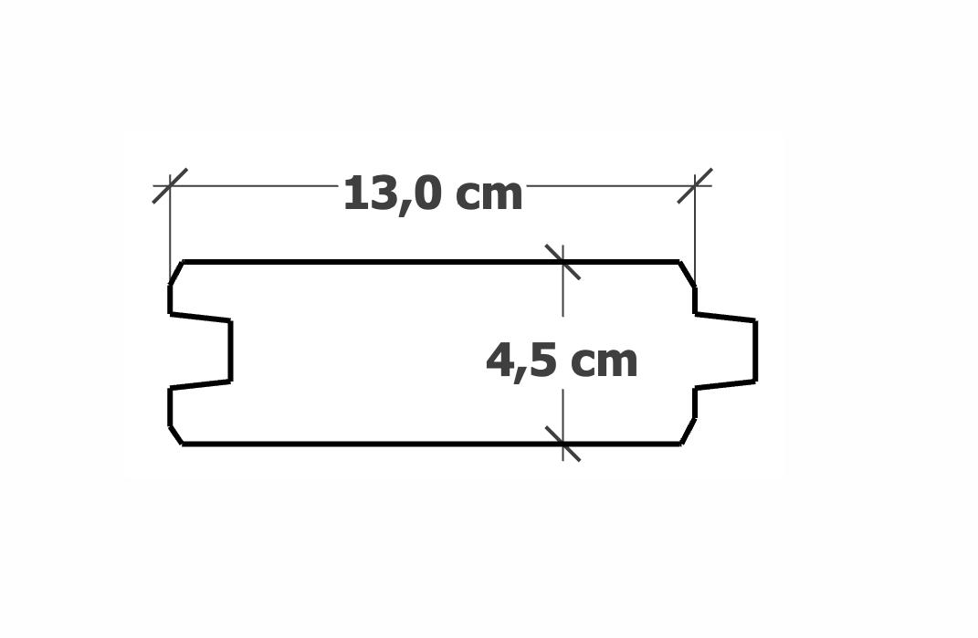 Planche Rainure-Languette | 45x130mm traité Autoclave