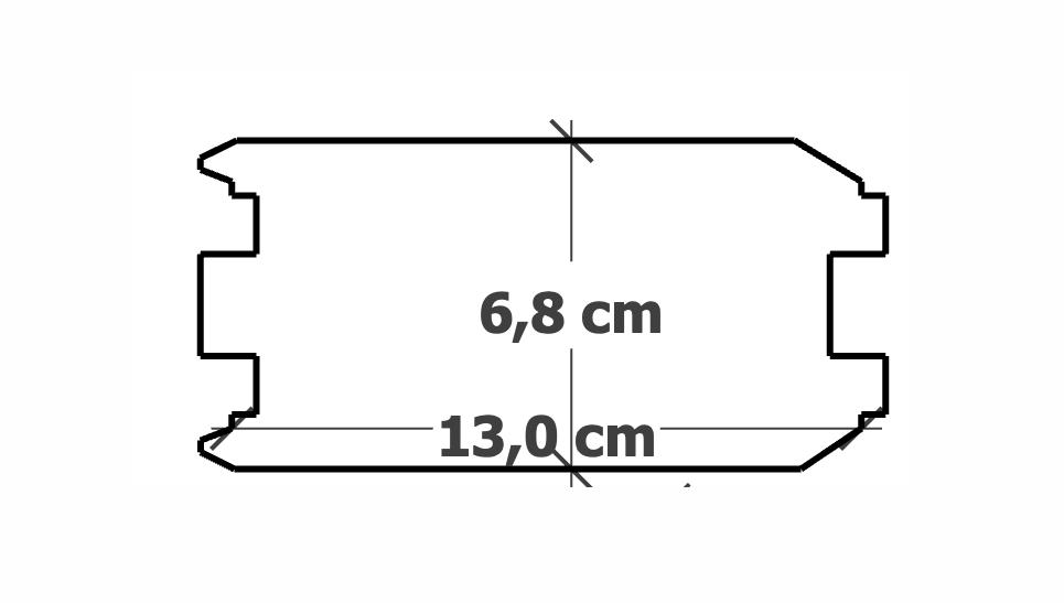 Planche Rainure-Languette | 68x130mm traité Autoclave