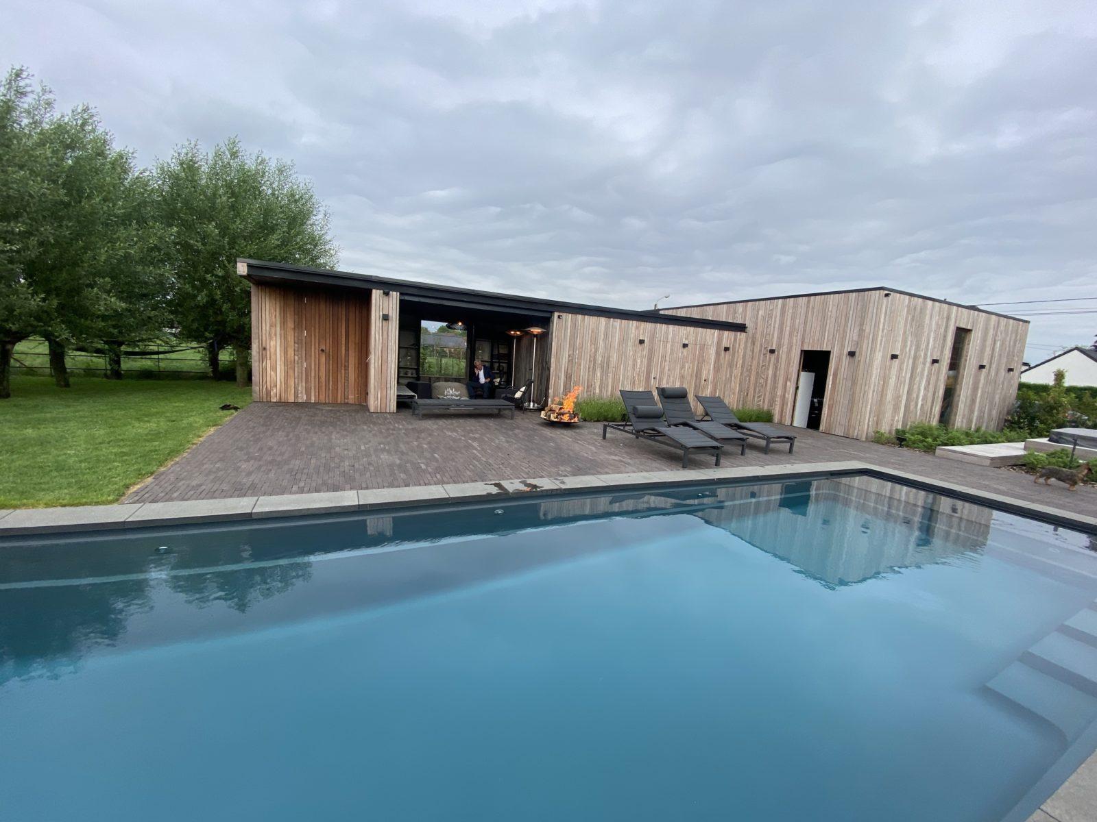 Pool-House Ossature bois | Bardage IPE