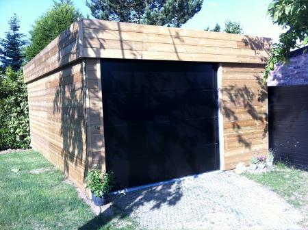 Construction garage bois sur mesure devis prix for Abri mural cape cod