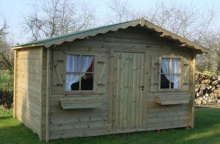 Abris de jardin isola double porte en bois autoclave de - Abri de jardin en bois traite autoclave ...