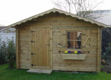 abris de jardin isola double porte en bois autoclave de sapin rouge. Black Bedroom Furniture Sets. Home Design Ideas