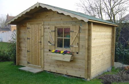 Abris de jardin isola double porte en bois autoclave de sapin rouge - Un abri de jardin est il imposable ...